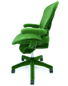 Artificial Grass Aeron Chair by Makoto Azuma