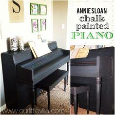 paint piano chalk paint | Chalk Painted Piano – Our Little Villa