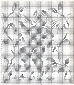 filet engeltjes 6 Crochet Curtain Pattern, Crochet Angel Pattern, Crochet Angels, Crochet Curtains, Easy Crochet Patterns, Stitch Patterns, Stitch And Angel, Cross Stitch Angels, Cross Stitch Flowers