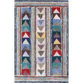 Found it at AllModern - Cotton Hooked Follow the Arrows Rug
