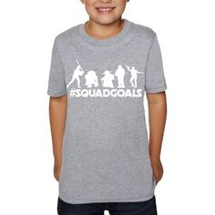 Star Wars Squad Goals Kid's T Shirt Can be worn for Girls or Boys Great for trip to Disneyland or Disney World- Matching shirt for Family by CoreBelief on Etsy https://www.etsy.com/listing/486586577/star-wars-squad-goals-kids-t-shirt-can
