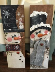 Christmas Wood Crafts, Christmas Signs Wood, Snowman Crafts, Outdoor Christmas, Christmas Art, Christmas Projects, Winter Christmas, Holiday Crafts, Pallet Christmas
