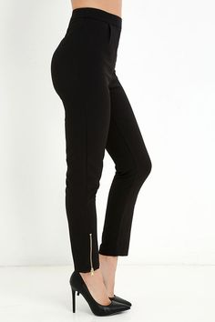 Piano Piece Black High-Waisted Trouser Pants at Lulus.com!