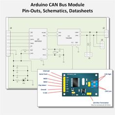 Arduino CAN Bus Module Pin Outs and Schematics