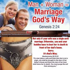 God's way? But no gay marriage?