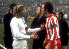 Legends: Gladbach's Gunter Netzer and Bayern's Franz Beckenbauer, Iran Football, Germany Football, Sport Football, Football Players, Soccer Boots, Sport Icon, Soccer Stars, Red And White Stripes, Champion
