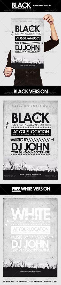 Black - Flyer Template