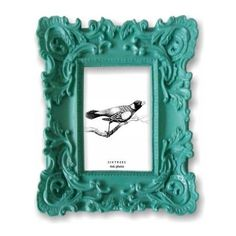 Baroque Turquoise Frame - Eclectic - Frames - by Sixtrees Cute Picture Frames, Silver Picture Frames, Teal Gray Bedroom, Teal Nursery, Eclectic Frames, Old Frames, Home Decor Inspiration, Style Inspiration, Decoration