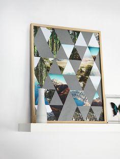 DIY: Poster Triangles avec différentes photos souvenirs