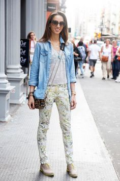 Topshop shirts paired with Urban Outfitters jeans, Cole Haan oxfords, and an #AlexanderWang bag #streetstyle