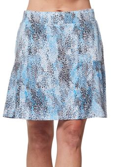 "Check out what Loris Golf Shoppe has for your days on and off the golf course! Sport Haley Ladies & Plus Size Eclipse 18"" Pull On Print Golf Skorts - CAPRI (Multi Animal)"