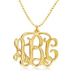 Looking for Custom Personalized Jewelry Gold Monogram Necklace Inches) ? Check out our picks for the Custom Personalized Jewelry Gold Monogram Necklace Inches) from the popular stores - all in one. Sterling Silver Monogram Necklace, Monogram Bracelet, Monogram Jewelry, Gold Plated Necklace, Drop Necklace, Personalized Jewelry, Custom Jewelry, Gold Necklace, Pendant Necklace