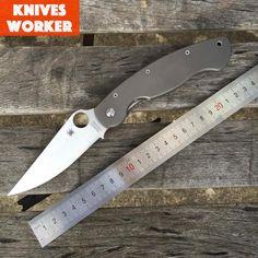 Spyderco C36 WIG zavírací nůž Titanium zacházejte CPM S30V čepel Vojenské Survival nože Camping Lovecké Utility Outdoor Tools (Čína (pevninská část)) Outdoor Tools, Buy Tools, Survival Knife, Folding Knives, Blade, Hunting, Free Delivery, Handle, Military