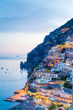 "Positano, Amalfi Coast, Italy. ""Positano, Amalfi Coast, Campania, Sorrento, Italy. View of the town and the seaside in a summer sunset"", by Francesco Riccardo Iacomino."