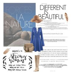 """Different is beautiful"" by ekaterina-uglyanitsa ❤ liked on Polyvore featuring Whiteley, Kerr®, Gianvito Rossi, Chloé, casual, dress, boho and plussize"