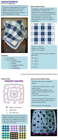 I like the gingham check square arrangement on this one. One never gets enough of grannys! easy cosy crochet blanket!