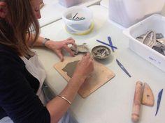 Making clay fish using ceramics as inspiration at the Centre of Ceramic Art at York Art Gallery. York Art Gallery, York Museum, Clay Fish, Just Kidding, Ceramic Art, Centre, Ceramics, Kids, Inspiration