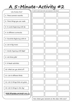 A 5-Minute Activity #2
