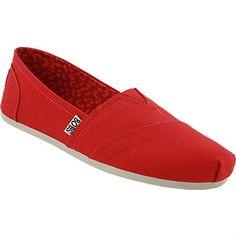 Skechers Bobs Plush Peace Love Slip on Casual Shoes - Womens Black