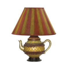 ELK LIGHTING Sterling Tolbert Teapot Accent Lamp (Green Finish)