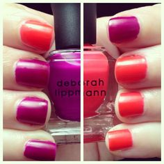 "Deborah Lippmann Matte Neon ""Carly Manicure"" - see www.lacqueredlover.com for more!"