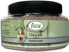 Sea Salt Bath Grey Salt Mineral Soak by Simply Pure by Simply Pure. $10.75. Dr. Recommended and award Winning!. Look for our entire Eczema Kit from Simply Pure Products for complete eczema care.. Created by a Mom who was looking for a cure for her son's eczema. All natural, handmade, made in Virginia, alway pure, always fresh. Manufactured by Simply Pure Products. Ingredients: grey Salt, magnesium sulfate 16 oz.