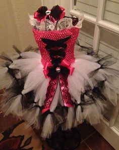 Draculara Monster High inspired tutu dress by MillieKatenmommy, $55.00