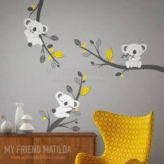 yellow grey wall stickers - Google Search
