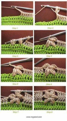 the not so easy flower stitch, made easy ♪ ♪ ... #inspiration_crochet #diy GB#diy GB http://www.pinterest.com/gigibrazil/boards/