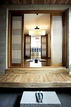 Traditional Interior Design By Ownby: Korean Traditional House Form In The City Traditional Interior, Korean Traditional, Traditional House, Asian Interior, Interior Exterior, Interior Design, Asian Architecture, Interior Architecture, Asian House