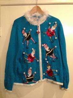 tacky ugly christmas sweater ebay tacky christmas sweater xmas sweaters ugly sweater party - Ugly Christmas Sweater Ebay