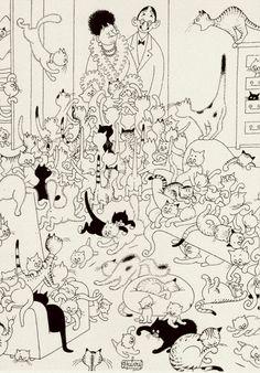 Albert Dubout 'Les chats' 10