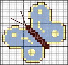 Butterfly mini cross stitch patterns by free patterns online