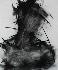 Shin KwangHo: untitled | 2013 | charcoal on canvas | 72.5 x 60 cm
