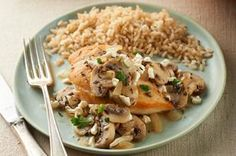 Mediterranean Chicken & Mushroom Skillet recipe - What do you get when you combine Mediterranean flavors with a chicken and mushroom skillet recipe? A 30-minute dish they'll sit down to savor.