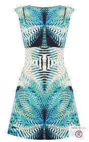 mirrior print dress