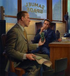 Lovecraft visits Sam Spade | Douglas Klauba | This reminds me of the hard-boiled detective character I played in _The Call of Cthulhu_ games at uni!