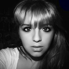 #Black #White #Girl #Face #Eyes