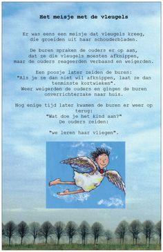 # HSK > hoogsensitieve kinderen. Ontroerend gedichtje over een meisje met vleugels.