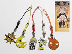 Amazon.com: Soul Eater Anime Metal Charm Cell Phone Strap (set of 5): Everything Else