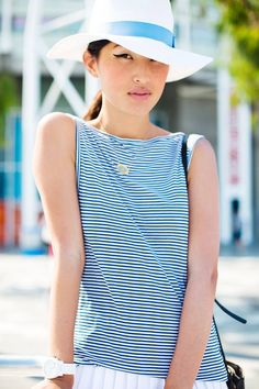 Melbourne With Lacoste ( Striped Tanks & Watches )
