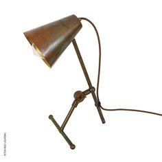 Moya Table Light Antique Brass by Mullan @peterreidlighting