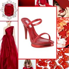 Red makes everyone happy! Put on a pair of red shoes and conquer the world. Red Shoes, Put On, Stuart Weitzman, Colour, Sandals, Heels, Happy, How To Make, Fashion