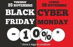 APPUNTAMENTO DA NON PERDERE !!!  Venerdì 25 Novembre e Lunedì 28 Novembre verrà applicato uno sconto Extra del 10% sul totale dello scontrino.  http://www.villamontesiro.com/black-friday-cyber-monday/  #villamontesiro #fratelli_villamontesiro #villa_casalinghi #ul_piatè_de_munt #blackfriday #cybermonday