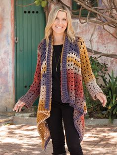 New Crochet Patterns - ANNIE'S SIGNATURE DESIGNS: Euphoria Cardi Crochet Pattern