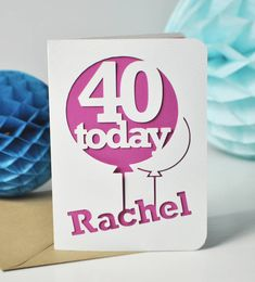 Papercut Age Balloon Card