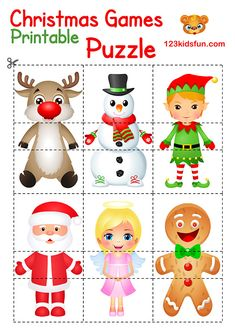 Free Christmas printable for Kids Christmas Coloring Pages Christmas Puzzle, Toddler Christmas, Diy Christmas Cards, Christmas Fun, Christmas Projects, Printable Christmas Games, Christmas Activities For Kids, Christmas Coloring Pages, Xmas Crafts