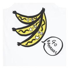 Bananas organic cotton tank top Stella McCartney Kids Children- A large selection of Fashion on Smallable, the Family Concept Store - More than 600 brands. Stella Mccartney Kids, Organic Cotton, Bananas, Tank Tops, Illustration, Prints, Veggies, Fruit, Fashion