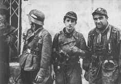Warsaw uprising Note the Waffen SS camo caps used by polish resistance. Pin by Paolo Marzioli Warsaw Ghetto Uprising, German Uniforms, Band Of Brothers, Red Army, German Army, Armed Forces, World War Two, Wwii, History