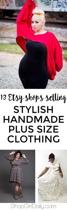 13 Etsy Shops Selling Stylish Handmade Plus Size Clothing   ShopGirlDaily.com